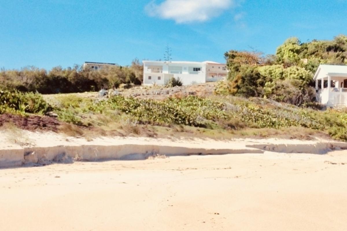 Views house from beach